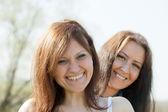 Two mid adult happy women — Stock Photo