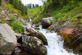 Waterfall in rocky Altai mountains — Stock Photo