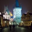 Royalty-Free Stock Photo: Night view of  Charles bridge