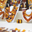 Stock Photo: Counter with amber jewelry