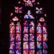 Stained-glass window in Saint Vitus Cathedral - Stock fotografie