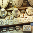 Stock Photo: Counter with variety jewelry