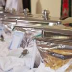 Buffet heated trays — Stock Photo