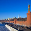 Moscow Kremlin  and   Moskva River in winter — Stock Photo