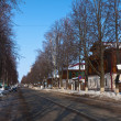 Street at Suzdal in winter — Stock Photo