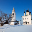 Alexander's monastery at Suzdal in winter — Stock Photo