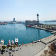 Panorama view of Barcelona port — ストック写真