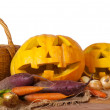 Halloween pumpkin and vegetables — Stock Photo #11500391