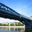 View of Moscow.  Pushkinsky Pedestrian Bridge — Stock Photo
