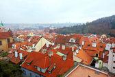 Top view of Prague — Stock Photo