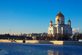 Christ the Savior Cathedral at Moscow in winter — Stock Photo