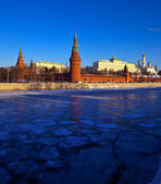 Moscow Kremlin in winter day — Stock Photo