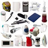 Set of household appliances. Isolated on white — Stock Photo