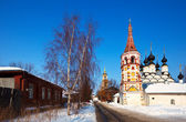 Churches at Suzdal in winter. Russia — Stock Photo