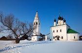 Alexander's monastery at Suzdal in winter — Foto de Stock