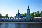 View of Moscow. Church of St. Nicholas — Foto de Stock