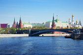 莫斯科克里姆林宫的视图 — 图库照片