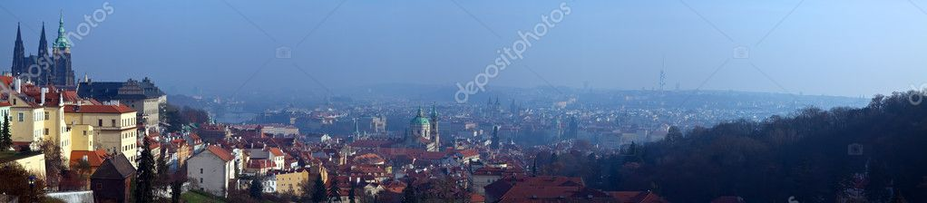 Panoramic view of Prague, Czech Republic  Stock Photo #11500027