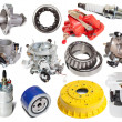 Set of auto parts — Stockfoto