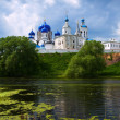 Orthodoxy monastery at Bogolyubovo in summer - Stock Photo