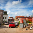 Backyards in the Ivanovo city — Stock Photo