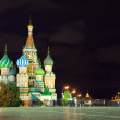 Kind to the  Red Square in night — Stockfoto