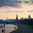 View of Moscow in dusk. Russia — Stock Photo