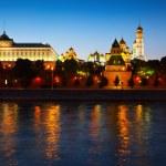 Moscow Kremlin in summer night — Stock Photo #12488469
