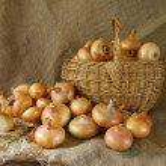 Onion in basket — Stock Photo