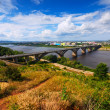 Stock Photo: View of Nizhny Novgorod with Molitovsky bridge