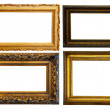 Royalty-Free Stock Photo: Horizontally gilded frame
