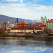 Foto Stock: Prague from Vltavside, Czechia