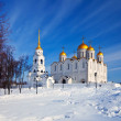 Uspenskiy cathedral  at Vladimir in winter — Foto Stock
