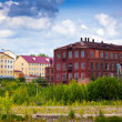 Old building of textile factories - Stock Photo