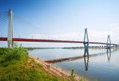 Murom cavo ponte attraverso il fiume oka — Foto Stock