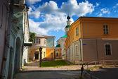 在夏季,俄罗斯弗拉基米尔 · 旧街 — 图库照片
