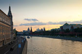 View of Moscow in summer evening — Stock Photo