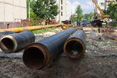 城市供水系统的修复 — 图库照片