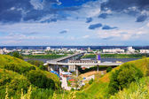 View of Nizhny Novgorod. Metro Bridge — Stock Photo