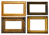Horizontally gilded frame — Stock Photo