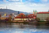 Praga od strony wełtawy, czechy — Zdjęcie stockowe