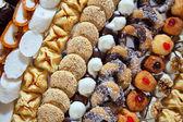 Ausgefallene kuchen auf bankett-tisch — Stockfoto