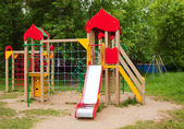 Childrens playground area — Stock Photo