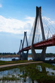 Murom kablo köprüsü aracılığıyla oka — Stok fotoğraf