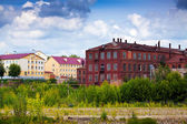 Old building of textile factories — Stock Photo