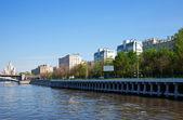 モスクワ川の堤防 — ストック写真