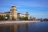 Weergave van moskou. berezhkovskaya dijk — Stockfoto