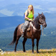 Horseback riding — Stock Photo