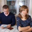 Financial problems in the family - Stock Photo
