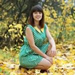 Woman in autumn park — Stock Photo #12495537